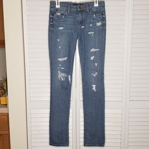 Joes Jeans Distressed Cigarette Jean in Shae Sz 26